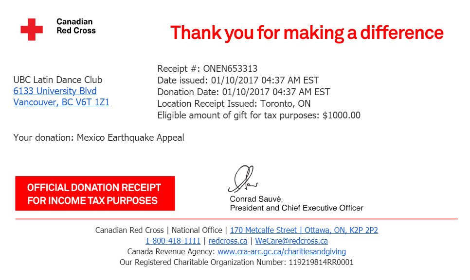 RED cross donation: Mexican earthquake relief efforts
